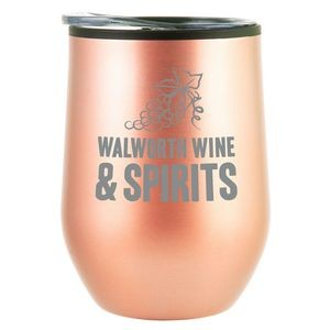 12 oz Bay Mist Stainless Wine Tumbler with Lid