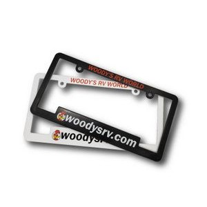 Plastic License Plate Frame (Screen/Pad Print)